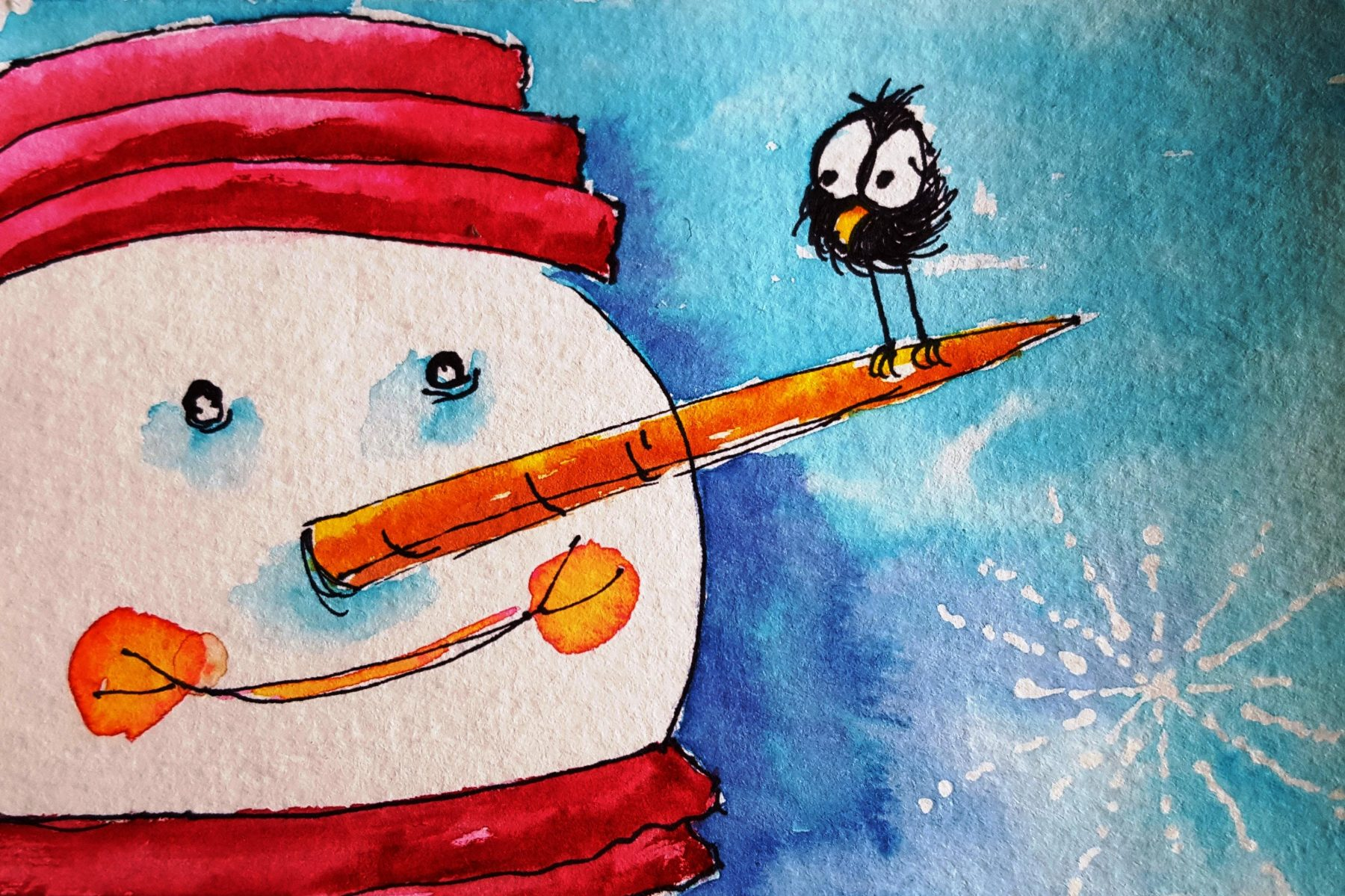 Watercolor Christmas Cards - with Chris Blevins and Suzi Vitulli ...